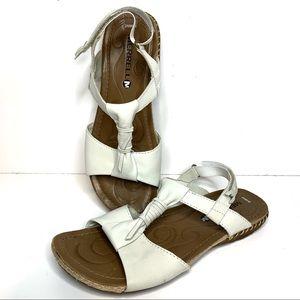 Merrell Cream Leather Adjustable strap Sandals